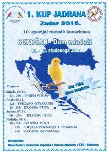 plakat - KUP JADRANA ZADAR 2015